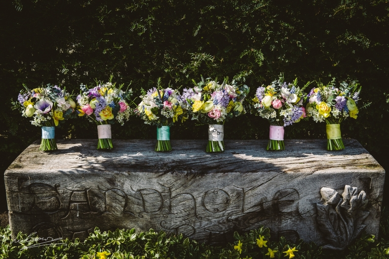 Wedding Flowers at Sandhole Oak Barn