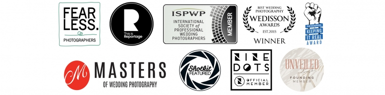award winning wedding photography badges in cheshire