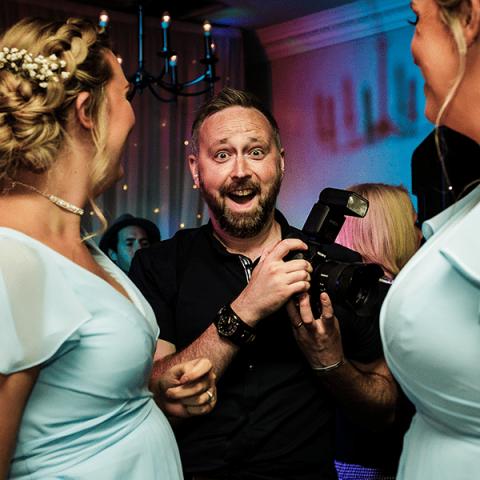 Cheshire Wedding Photographer Stood Smiling
