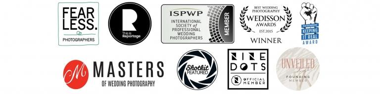 award winning wedding photography badges in cheshire